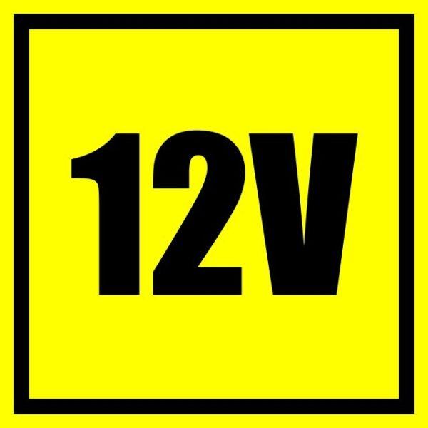 "Naklejki BHP informacyjne ""12v"" 40mm x 40mm"